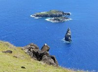 View of the islets, Orongo, Rapa Nui