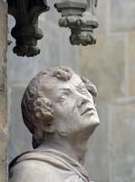 Outside detail, Thomaskirche, Leipzig