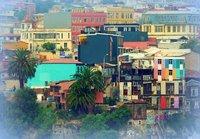 Valparaiso - colourful houses