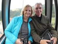 In the cable car, Masikryong Ski Resort