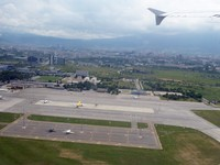 Taking off from Sofia Airport