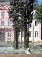 Dog in the Fastbrunnen, Schillerplatz
