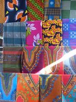 Colourful fabrics in the Mercado de Sucupira