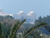 View of the Presidential Palace from Café Bateel, Abu Dhabi