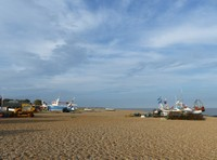 The beach at Aldeburgh