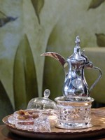 Traditional Omani coffee at Muscat Airport