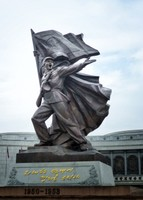 At the Victorious Fatherland Liberation War Museum, Pyongyang