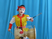 Young drummer, kindergarten performance, Chongjin