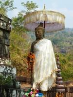 Stone guardian, Wat Phou