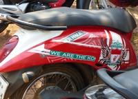 Motorbike at Wat Phou