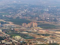 Coming in to land in Vientiane