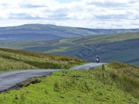 The road across the moor to Swaledale
