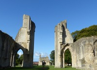Glastonbury Abbey - ruins of the great church