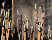 Incense at Kinkaku-ji, Kyoto