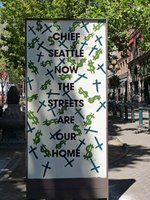 Memorial to Chief Seattle, Pioneer Square, Seattle