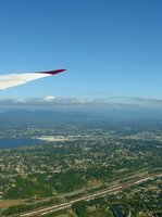 Taking off from Seattle