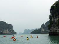 Kayakers in Bai Tu Long Bay