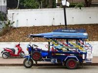 Tuk-tuk on Sisavangvong Road, Luang Prabang