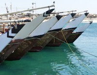 Traditional dhows in Mirbat