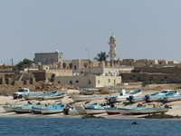 View of Mirbat from the fishing port