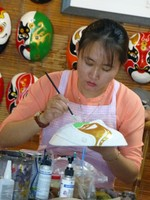 Mask-making at the Traditional Art Performance House, Hoi An