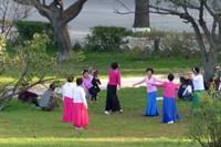 In a Wonsan park