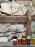 Homemade jam and honey for sale in Koprivshtitsa