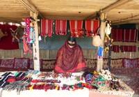 Salma at her handicrafts stall