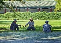 Gardeners in the Temple of Heaven park