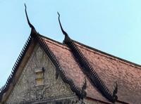 Old temple roof, Wat Preah Prom Rath