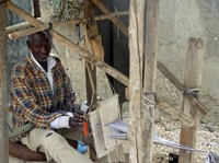 Man weaving, Shell Island