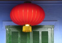 Shutters and lantern, Chinese All-Community Assembly Hall, Hoi An