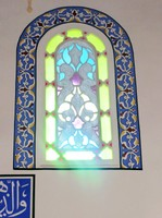 Stained glass window, Banya Bashi Mosque