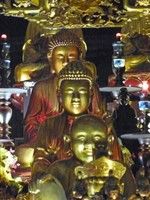 Buddhas in Tran Quoc Pagoda