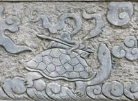 Turtle carving, Tran Quoc Pagoda