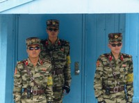 DPRK soldiers at the Military Demarcation Line