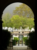 View of the garden from the staircase, Palazzo Pfanner
