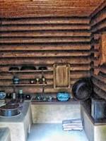 Cabin at Mount Paektu Secret Camp