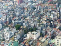 Flying over Ho Chi Minh City