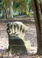 Carved stone naga at Wat Tomo