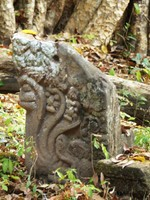 Carved stone at Wat Tomo