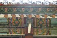 Myongrun Hall detail, Koryo History Museum, Kaesong