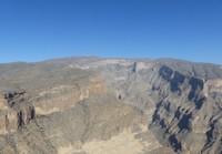 Jebel Shams observatory from the Wadi Nakhal vista point