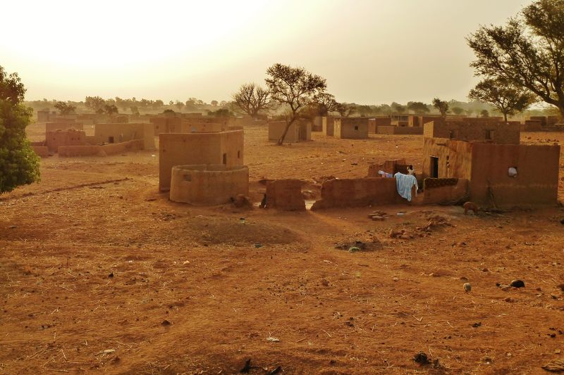 View from the rooftop at sunrise - Burkina Faso