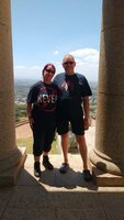 Paula & John at Rhodes Memorial, Cape Town