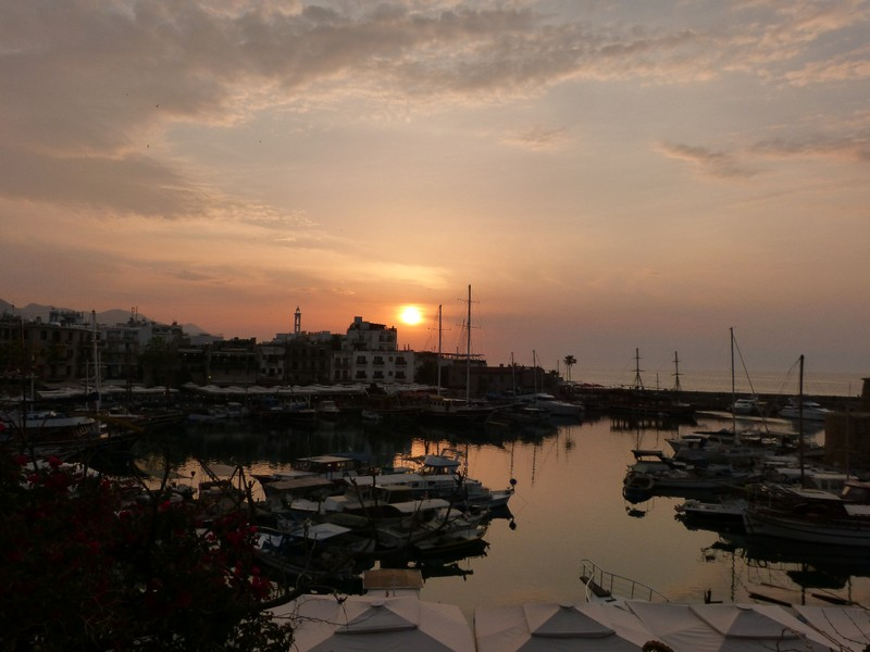 Sunset, Girne Harbour
