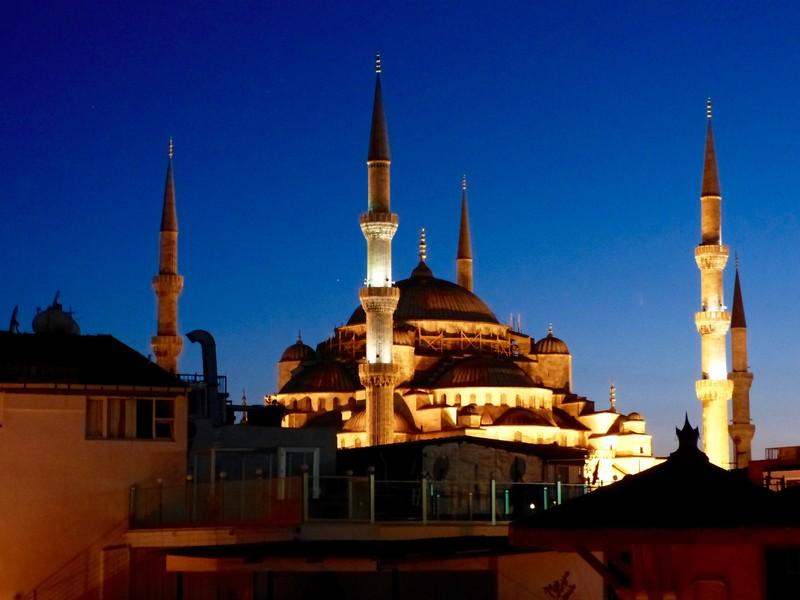Blue Mosque, Dusk