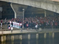 Fans Assembling Pre-match