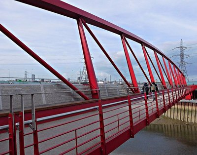 Bridge across the Lea (Bow Creek) near Canning Town