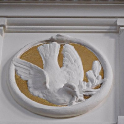 Wesleyan Chapel Wesley: roundel with dove and snake design